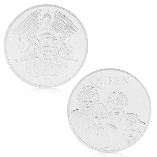 Amarzk Queen British Rock Band Silber vergoldet Gedenkmünze Token Sammlerstück Geschenk - Lagerung Silber-münze