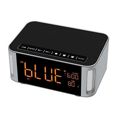 NAERFB Wireless Bluetooth Lautsprecher LED Touch Lampe Kreative Alarm Subwoofer Kleine Sound 2000 mAH 12 Watt 3D Stereo Surround Sound