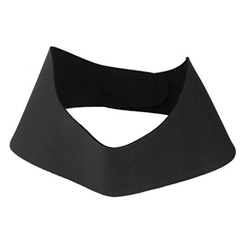 Sharplace Neopren Schwimmen Stirnband Für Kinder/Erwachsene Ohrenstöpsel Band Ohrenschutz Kopfband - Schwarz, M