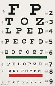Physician Supplies Echelle d'acuité visuelle lumineuse de Snellen - Lecture à 6 m