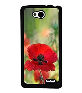 Red Flower 2D Hard Polycarbonate Designer Back Case Cover for LG L90