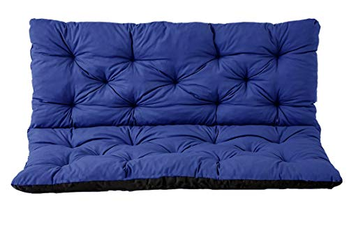 Gartenbankauflage Bankauflage Bankkissen Sitzkissen Polsterauflage Sitzpolster (180x60x50, Blau)