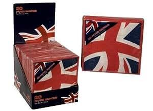 Papierservietten, Motiv Union Jack / Britische Flagge, 20 Stück