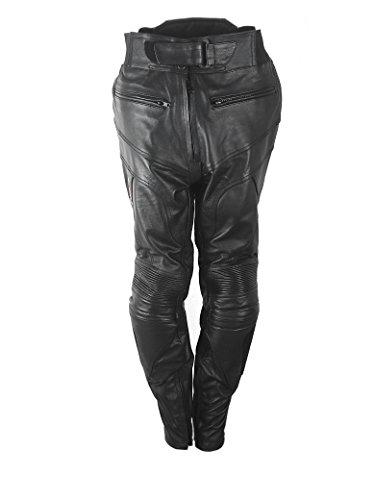 Zerimar KENROD Lederhose mit Motorradschutz Motorradhose mit schwarzem Farbschutz Größe XS