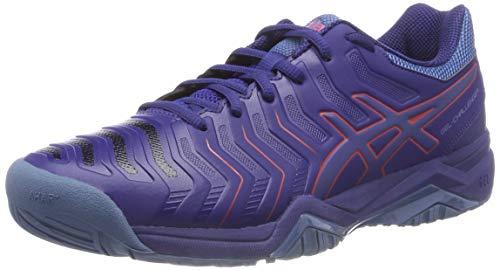 ASICS Gel-Challenger 11, Chaussures de Tennis Homme, Multicolore (Blue Print/Red Alert 400), 44 EU