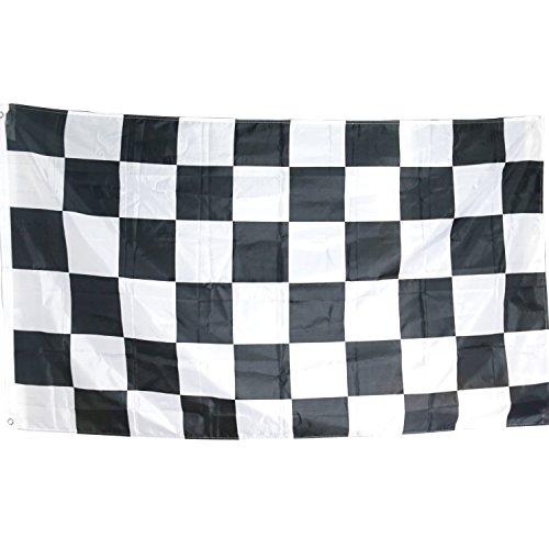 TRIXES große schwarz / weiß kariert Flagge Motorsport Formel 1 150x90cm