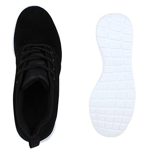 Modische Herren Sportschuhe | Freizeit Sneaker Snake | Laufschuhe Runners Trainers | Sneakers Schuhe Schwarz Carlton