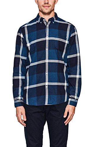 Esprit 107ee2f013, camicia uomo, blu (dark blue 405), 41 (taglia produttore: small)