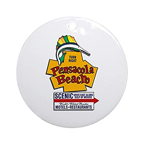 CafePress - Pensacola Beach &Quot;Welcome Sign&Quot; Design Or - Round