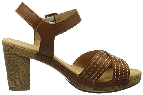 Gabor - Ryder, Sandali Donna Marrone (Brown (Brown Leather))