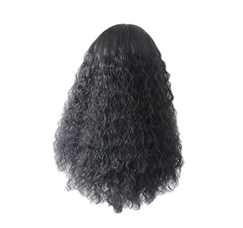 GreatFun24 Zoll Womens Perücken Brazilia schwarz Lange lockige Wasser Welle Haar Perücke synthetische Perücken Kostüm Perücke Cosplay