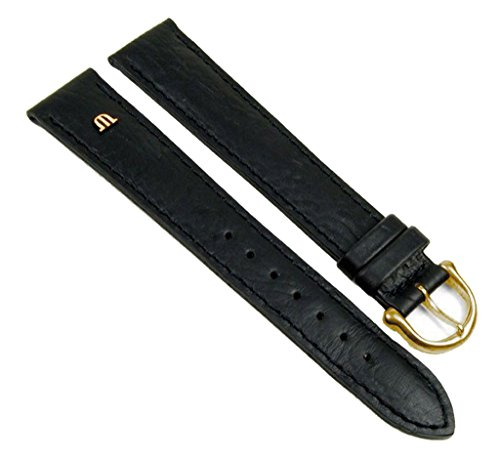 Maurice Lacroix Uhrenarmband Büffelkalb Leder schwarz XL 20898G, Stegbreite:15mm
