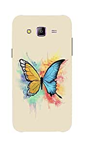 Back Cover for Samsung Galaxy E5 Colourful Butterfly