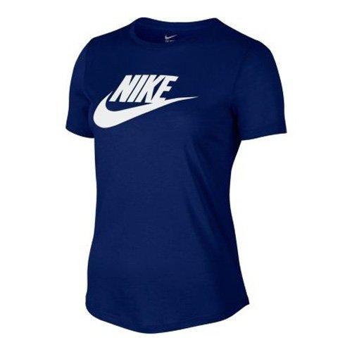 NIKE T-shirt Icon Futura Bleu - Tiefes Königsblau/Weiß