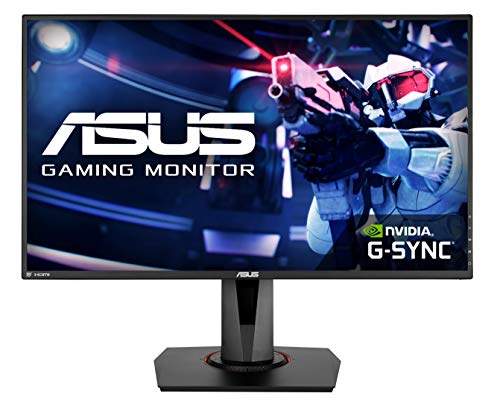 "ASUS VG278QR, 27"" Full HD (1920x1080) Nvidia G-SYNC Compatible Esports Gaming Monitor, 0.5ms, Up to 165 Hz, DP, HDMI, DVI, FreeSync, Low Blue Light, Flicker Free, TUV Certified"
