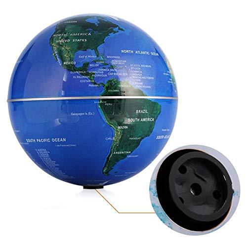 Globo giratorio automático de 6'- Globo que gira automáticamente - Mapa del mundo giratorio - para decoración de escritorio y regalos navideños