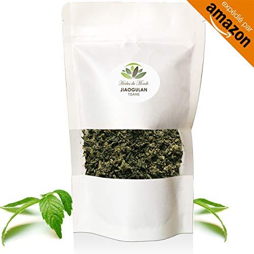 El Jiaogulan secado hojas - té de la'inmortalidad' -100% de variedad de Gynostemma, tonificación eficaz y potente antioxidante natural - 80 g