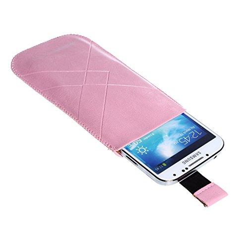 "wortek Apple iPhone 6 4,7"" Tasche Etui (Lasche mit Rückzugfunktion Ausziehhilfe) Rosa iPhone 6 - Rosa"