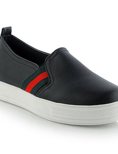 ZQ gyht Scarpe Donna - Mocassini - Tempo libero / Formale / Casual - Plateau / Creepers - Plateau - Finta pelle - Nero / Rosso / Bianco , red-us11 / eu43 / uk9 / cn44 , red-us11 / eu43 / uk9 / cn44 white-us8.5 / eu39 / uk6.5 / cn40