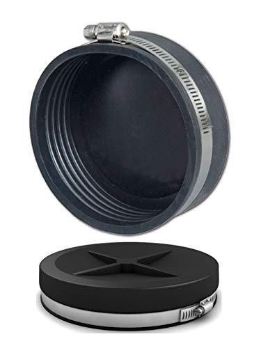 Air Aqua Flexible Endkappe von 20-250 mm Gummikappe, Verschlusskappe, Größe Ø:Ø 25 mm