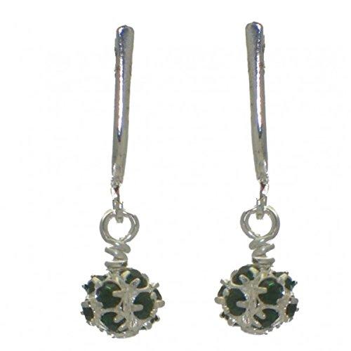 goldet Emerald Kristall-Clip auf Ohrringe (Emerald Green Ohrringe Modeschmuck)