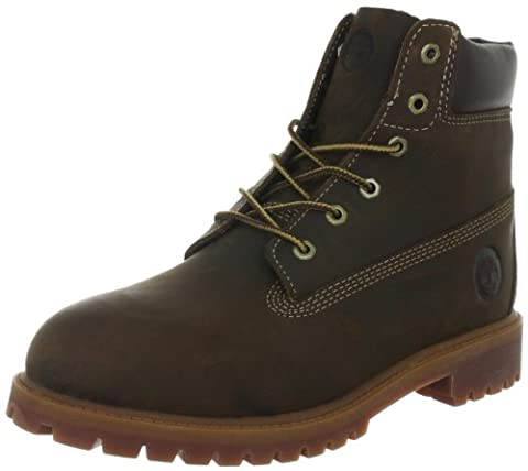Timberland Authentics FTK 6 In WP Boot C80803, Jungen Schnürboots, Braun (Brown Smooth), 25,5 EU / 8