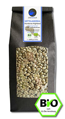 Bio Rohkaffee - Grüner Hochland Kaffee Honduras Highland (grüne Kaff...