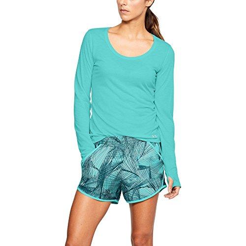 Under Armour Damen Running Shirt Langarm Charged NLS Long Sleeve Tropical Tide/Reflective