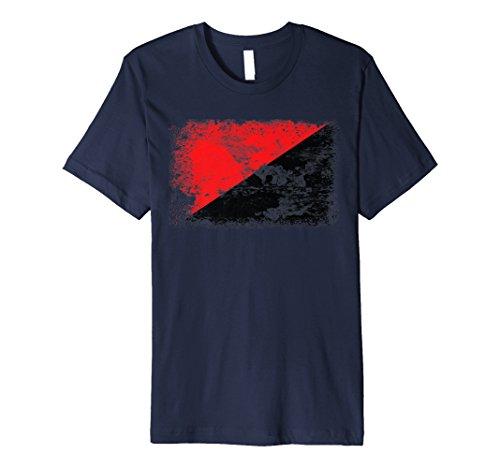 Rot Schwarz Anarchie Flagge T-Shirt | Anarchistische Flagge Tee Geschenk (Anarchie-shirt Für Frauen)