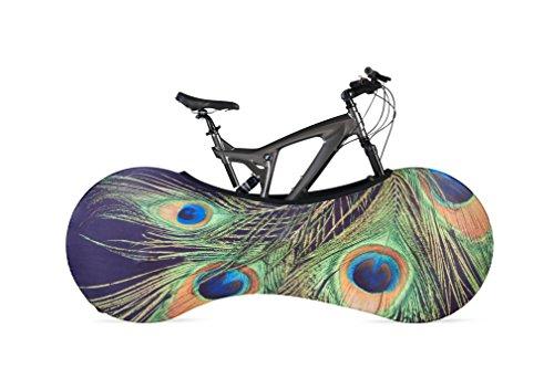 velosock Bicicletta Indoor, Portaoggetti, Pavone, soluzione migliore per mantenere i pavimenti e pareti pulizia, compatibile con il 99% di tutti gli adulti biciclette-Spedizione gratuita nel Regno Unito