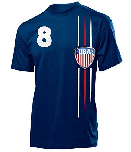 USA Fanshirt Fan Shirt Tshirt Fanartikel Artikel 3300 Fussball Männer Herren T-Shirts Navy L