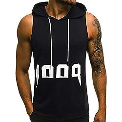 POachers Débardeur T-Shirt Homme à Capuche sans Manches Haut Top Sport Musculation Gym Boxe Lettre Impression Hip hop T-Shirt Tee Tops
