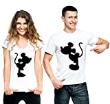 t-shirteria Coppia T-Shirt San Valentino Mouse in Love - Love - Humor - Valentine's Day - Idea...
