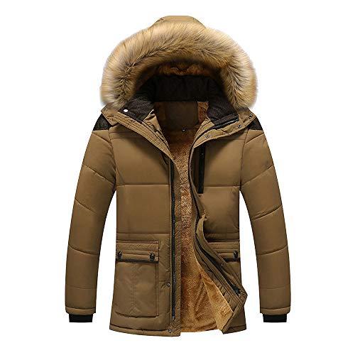 JMETRIC Herren, Herren Outdoor Winterjacke Hoodie Kapuzenjacke Hooded Puffer JacketSteppjacke gefüttert mit Kapuze