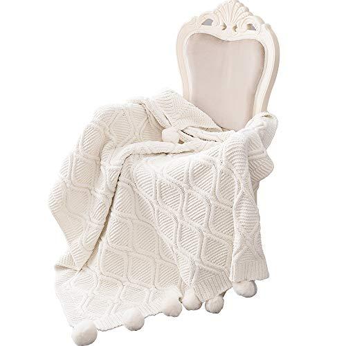MYLUNE HOME Luxus Stilvolle Strickdecke für Fernsehen oder Nap auf dem Stuhl, Sofa und Bett 130 * 160cm…