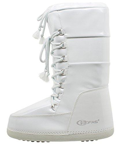 Kefas - Vogue - Damen Schneestiefel After Ski Boots Weiß