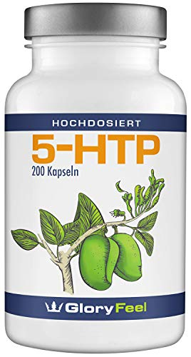 5-HTP Kapseln - 200mg Original Griffonia Extrakt - 5HTP aus Griffonia Simplicifolia Samen - Laborgeprüft und Hergestellt in Deutschland