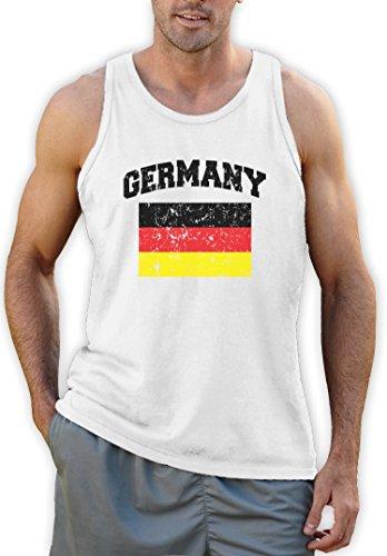 Germany Deutschland Flagge Tank Top Weiß