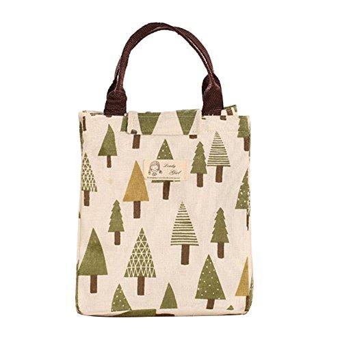 Portatile impermeabile borsa termica porta pranzo borsa termica da picnic sacchetto Bento Tree