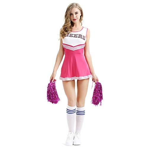 Klassischen Kostüm Cheerleader Mädchen - Sexy Uni hoch Schulbeifall-Mädchen-sexy Cheerleader-Kostüm Kostüm Uniform Frauen High School Musical Cheers Klassische Cheerleader Uniform