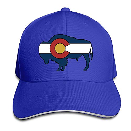 dfegyfr Colorado State Flag Buffalo Snapback Sandwich Baseball Unisex Kappen Black New19