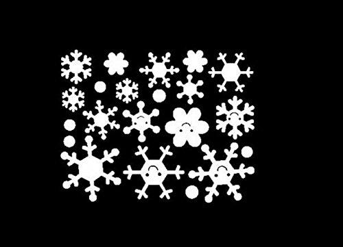 Wandaufkleber, Zolimx Engel Schneeflocke Weihnachten Vinyl Kunst Dekoration Abziehbilder (Weiß)