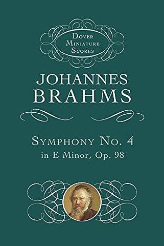 Johannes Brahms Symphony No. 4 In E Minor Op.98 (Study Score) (Dover Miniature Scores)