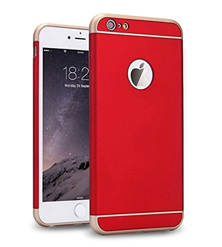 Pacyer® iPhone 6 Plus 6S Plus Funda, 3 en 1 Bumper Carcasa para iPhone 6 Plus 6S Plus 5.5pulgadas Protective Case Cover Dura rígida PC, ultrafina Slim Fit (Rojo)
