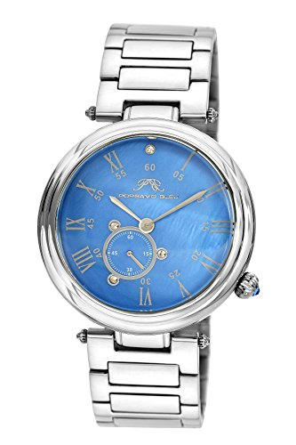 Porsamo Bleu Celeste Rostfreier Stahl Silber Tönung & Blau Damen-Armbanduhr 191Bces
