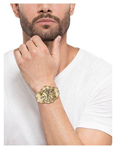 a8270aa37cf Invicta Pro Diver - Reloj análogico de cuarzo con correa de acero  inoxidable chapado en oro