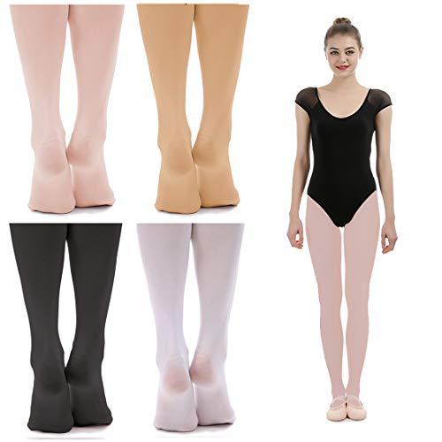imucci Samt Ballett Tanz Strumpfhosen, damen, 1pair thin pink fullfoot -