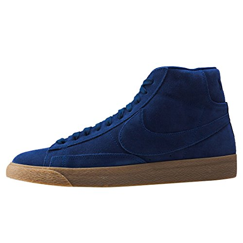 Nike Herren Blazer Mid Premium Sneakers, Schwarz Blau (Binary Blue/binary Blue-gum Lt Brown)