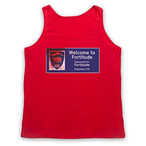 Inspiriert durch Fortitude Welcome Sign Inoffiziell Tank-Top Weste Rot