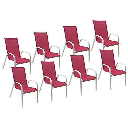 Lot-de-8-chaises-MARBELLA-en-textilne-rose-aluminium-blanc